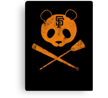 Panda Skull- SF Giants Canvas Print