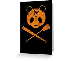 Panda Skull- SF Giants Greeting Card