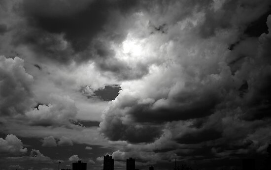 """""""Storm Clouds in Black and White"""" by Sarah McKoy 