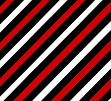 Beautiful Cushions/ Pattern Red and Black Stripe by ozcushionstoo