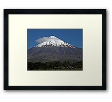 Snow-topped Mountain Framed Print