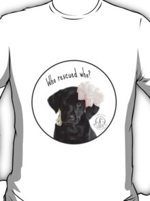 Who Rescued Who? Lily - Circle Design T-Shirt