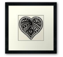 Valentine Heart 3 Aussie Tangle - Choose Your Own Background Colour  Framed Print