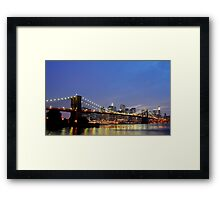 Over The Brooklyn Bridge Framed Print