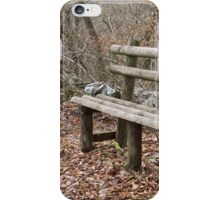 bench in the woods iPhone Case/Skin
