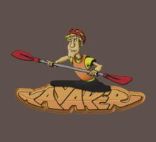 Kayaker Graffiti  T-shirt by phil hemsley