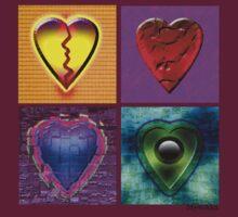 Broken Hearts Collection T-shirt by Mystikka
