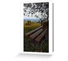 Bench with nature and scenery | landscape photography Greeting Card