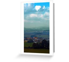 Cloudscape with some rural panorama beyound | landscape photography Greeting Card