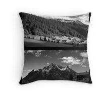 Morning snow, Montafon, Austria Throw Pillow