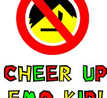 Cheer Up Emo Kid Print by optimusjimbo