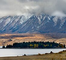 Lake Tekapo from Mt John by Hans Kawitzki
