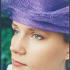 Jessica in Helena's hat - 1996 by Peter Harpley