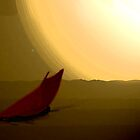 Red sail coming home by TonyFlanigan