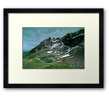 Morning snow at Hochjoch, Austria Framed Print