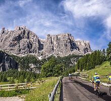 Cycling on a mountain road by TOM KLAUSZ