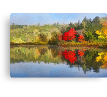 Reflecting on Fall - Autumn Lake Impressions Canvas Print