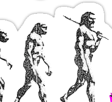 Evolution of some men Sticker