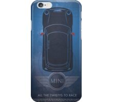 """MINI Cooper Dr Who """"All the twisties to race"""" iPhone Case/Skin"""
