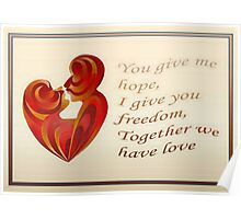 Together We Have Love Greeting Card Poster