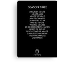Continuum - Season Three Episodes Canvas Print