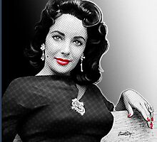 Elizabeth Taylor Black, White & Red Photographic Print