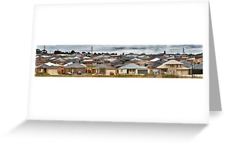 """""""Little boxes on the hillside, little boxes made of ticky tacky"""" by Heather Prince ( Hartkamp )"""