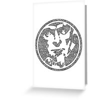 Uncle Sam Wants You Mosaic Grayscale Greeting Card