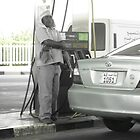 in the Oil Station  :p by Areej27Jaafar
