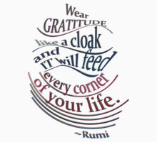 another wonderful RUMI quote Kids Clothes