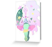 Yoga Opal Greeting Card