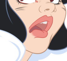 Snow White Scared in the Haunted Forest Sticker