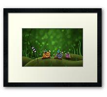 Snail Racing Framed Print