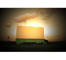 Drive-In Sunset Photographic Print