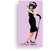 Audrey Hepburn - Little Black Dress Canvas Print