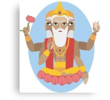 illustration of Hindu deity lord Brahma Canvas Print