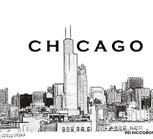 Chicago Poster drawing by RDRiccoboni