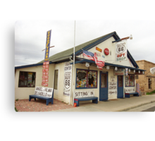 Route 66 - Angel's Barber Shop Canvas Print