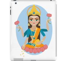 illustration of Hindu deity mother Lakshmi iPad Case/Skin