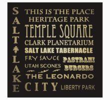 Salt Lake City Utah Famous Landmarks T-Shirt
