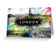 London Skyline View Collage  Greeting Card