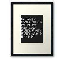 American Horror Story Quote Framed Print