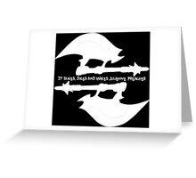 Scythe (x2) - Buffy - Julienne Preacher White Greeting Card