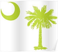 Key Lime Green Palmetto Moon Poster