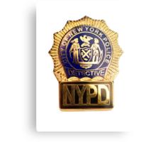NYPD Detective Badge Metal Print