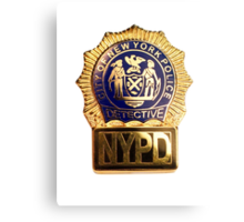 NYPD Detective Badge Canvas Print