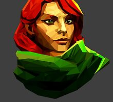 Low poly Windranger by Morware