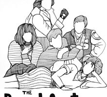 The Breakfast Club Line Drawing by Claire Coleman