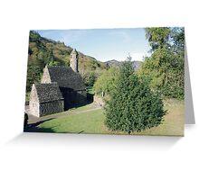 Glendalough church Greeting Card