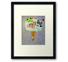 Cream Of The Cloud Framed Print
